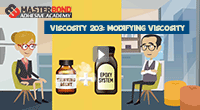 How to modify the viscosity of adhesive compounds