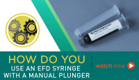 How To Use an EFD Syringe with a Manual Plunger