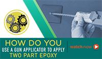 Learn how to use a gun applicator to apply epoxy